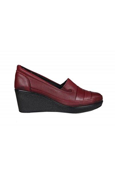 Beety 20bk37.2311 Saf Deri Bordo Kadın Günlük Ayakkabı