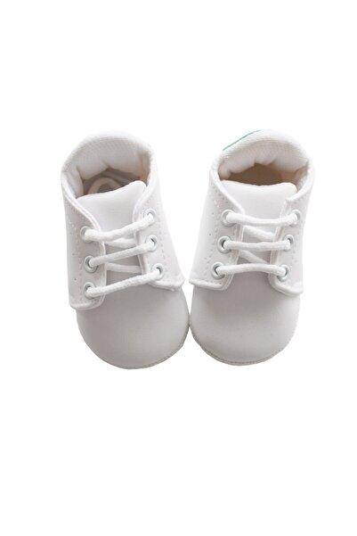 bebegen Newborn Beyaz Erkek Bebek Ayakkabı