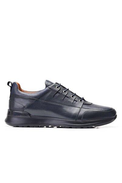 Nevzat Onay Hakiki Deri Lacivert Sneaker Erkek Ayakkabı -11843-