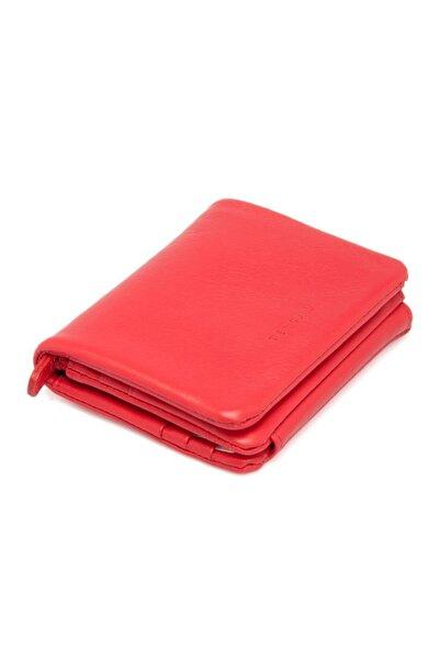 Tergan Kırmızı Deri Erkek Cüzdanı 01541