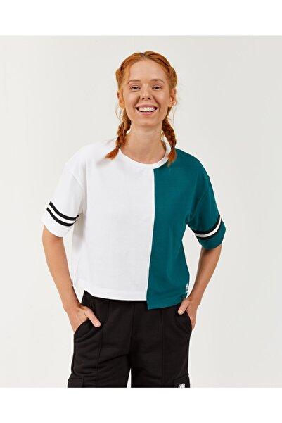 SKECHERS High Vibes 2 W Asymmetric Crop Tee Kadın Birch Tshirt S202389-580