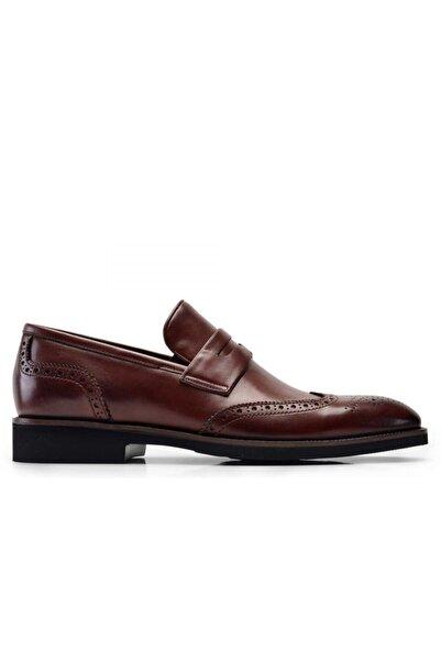 Nevzat Onay Hakiki Deri Kahverengi Günlük Loafer Erkek Ayakkabı -8540-