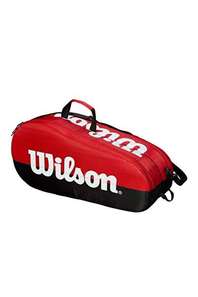 Wilson Tenis Raket Çantası Team 2 Comp Kırmızı-siyah