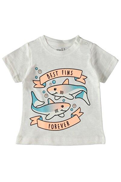 Kujju Kız Bebek Tişört 6-18 Ay Ekru