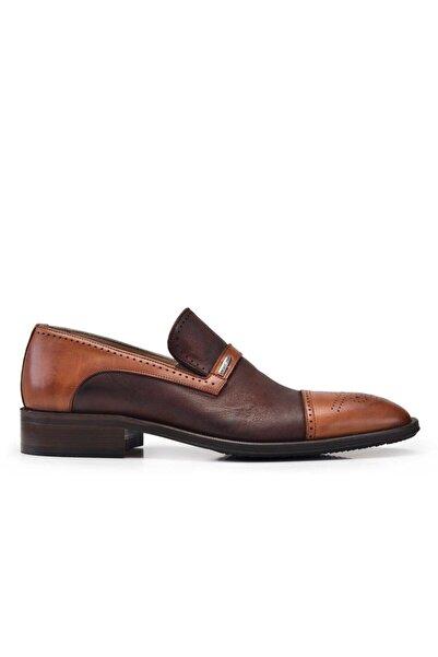 Nevzat Onay Hakiki Deri Taba Loafer Klasik Loafer Erkek Ayakkabı -7671-