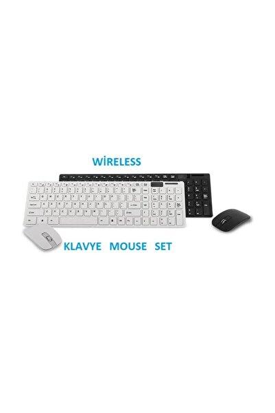 Platoon Kablosuz Klavye Mouse Seti 2.4 Ghz Wireless Tv Pc Uyumlu Pl-374