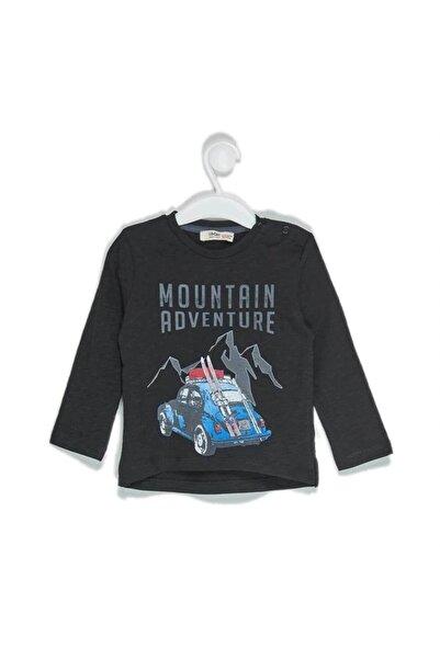 Çikoby Erkek Bebek Araba Baskılı Omuzu Patlı Sweatshirt
