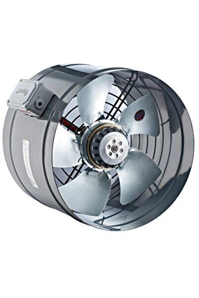 AYAS 20 Cm Çapında Yba-200-2k-m 3000 D/d 220 230 Volt Monofaze Yuvarlak Kanal Tipi Aksiyal Fan Aspiratör