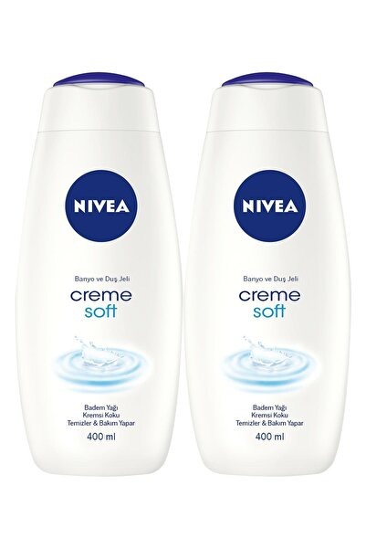 Nivea Creme Soft Kremsi Dokunuş Kadın Duş Jeli 400 ml X 2 Adet