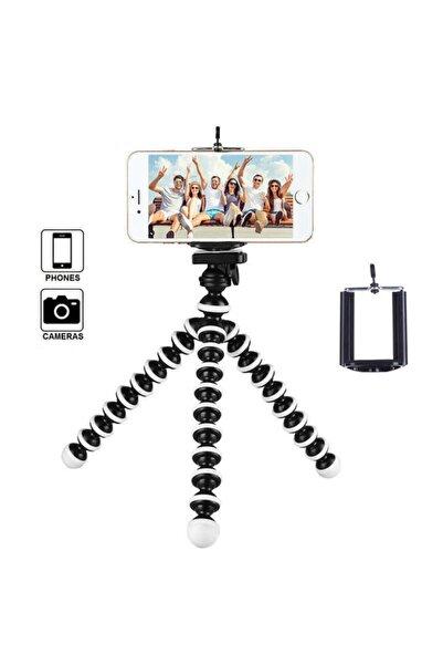 Mettzchrom Cep Telefonlarına Ve Fotoğraf Makinalarına Uyumlu 26cm Uzunluğunda Ahtapot Tripod Hareketli Kafa