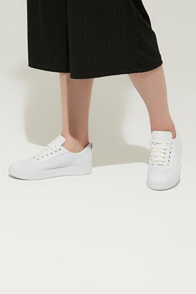 ZİNDİ Kadın Termo Taban Sneaker Ayakkabı Beyaz