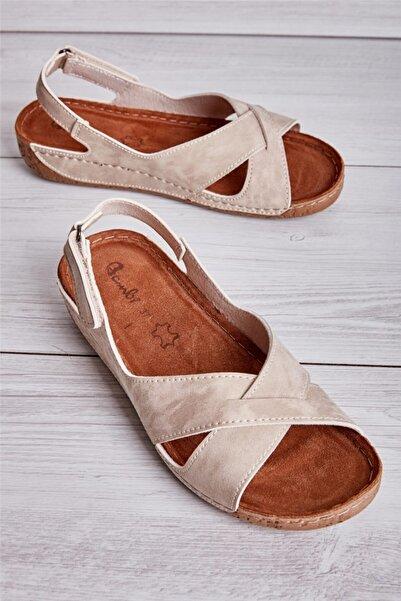Bambi Bej Kadın Sandalet L0581002071