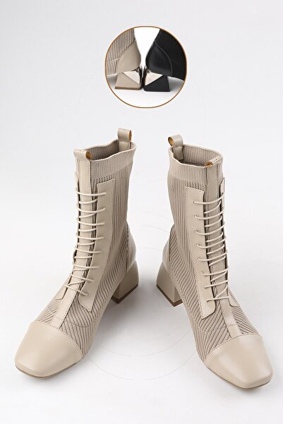 Buffalo Kadın Bonnie Bej Topuklu Bot