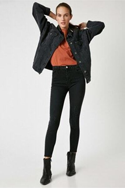 Koton Kadın Siyah Jeans 1kak47404md