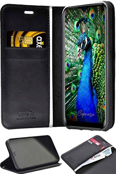 cupcase Samsung Galaxy S20 Plus Kılıf Kapaklı Kartvizitlik Standlı Siyah Arka Kapak