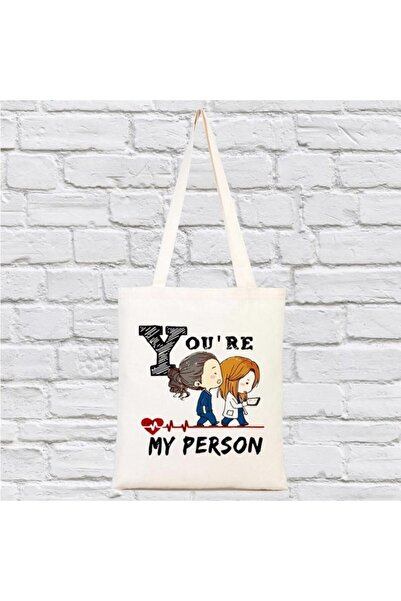 Katarsis Home You Are My Person Baskılı Bez Çanta