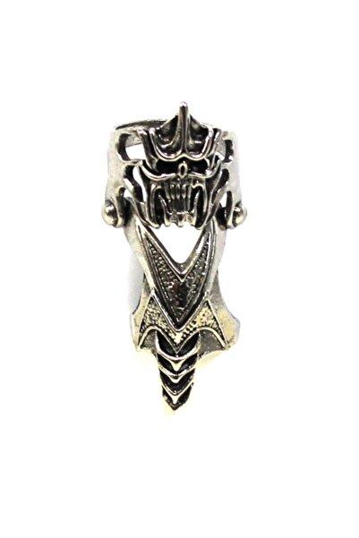 Modaroma Skull Kısa Gümüş Kaplama Şovalye Yüzük 5