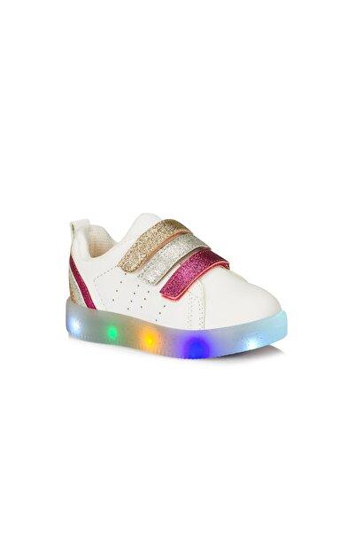 Vicco Sun Kız Bebek Beyaz-Fuşya Sneaker