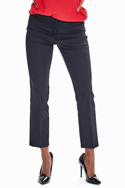 İKİLER Kadın Siyah Standart Fit Pantolon