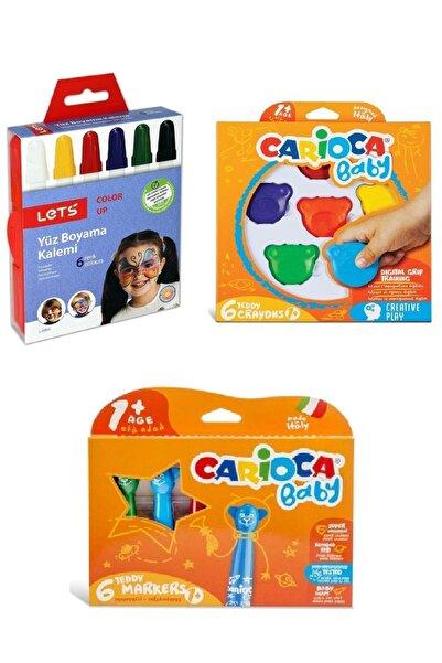 CARIOCA Eğlenceli Yüz Boyama Keçeli Kalem Pastel Boya Seti - Kozme Store