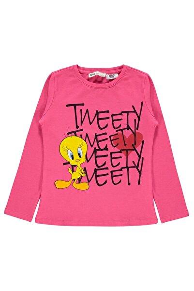TWEETY Kız Çocuk Sweatshirt 6-9 Yaş Fuşya