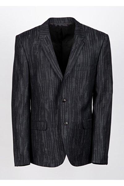 Versace Erkek Siyah Düğmeli Ceket