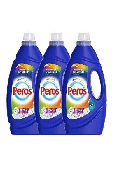 Peros Sıvı Çamaşır Deterjanı Canlı Renkler 2310 ml X 3'lü Set 99 Yıkama