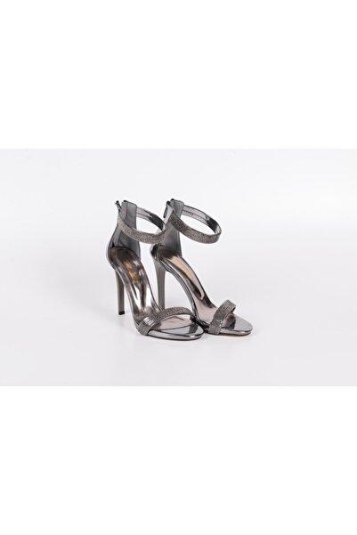 PUNTO 448022 Yazlık Açık Bayan Tek Bant Topuklu Ayakkabı