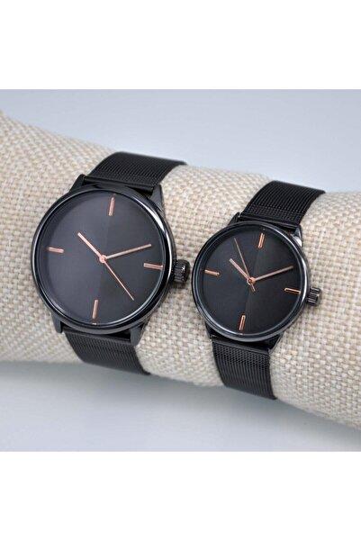 WatchArt Unisex Siyah Eşlere Özel Saat Çift Kombin