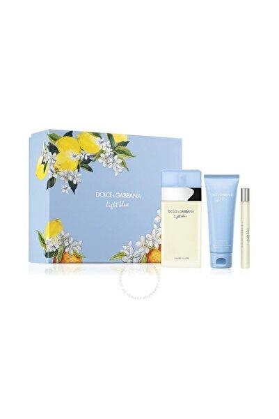 Dolce Gabbana Light Blue Edt 100 Ml + Body Cream 75 Ml + Travel Spray 10 Ml