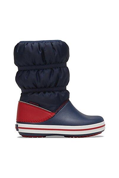 Crocs Çocuk Winter Puff Boot Kids - Navy/red