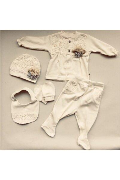 Bebbemini Kız Bebek 5 Parça Organik 0-3 Ay Hastane Çıkışı Seti 1001785