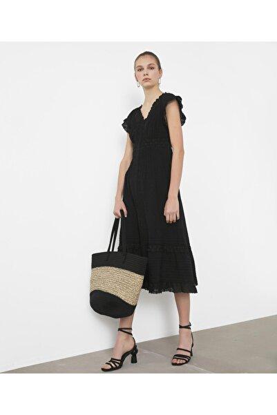 İpekyol Dantel Şeritli Elbise