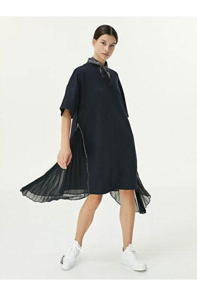 Twist Kumaş Mixli Elbise