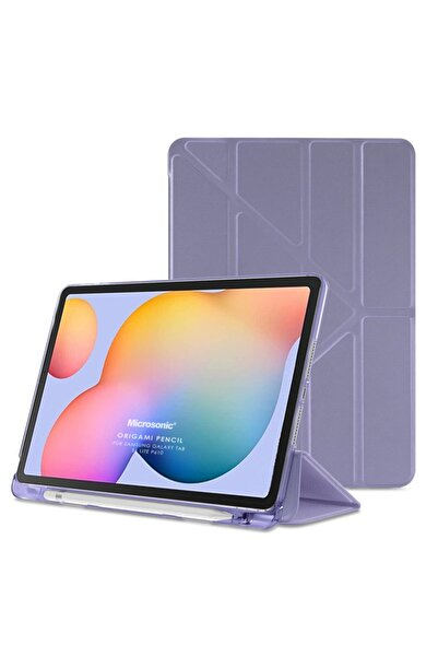 "Microsonic Microsonic Galaxy Tab S6 Lite 10.4"" P610 Kılıf Origami Pencil Lila"