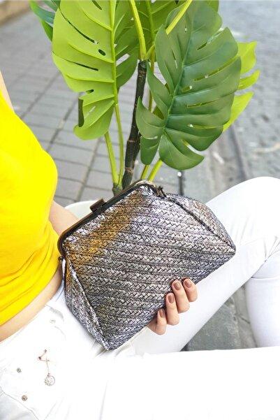 Limoya Bags Norah Gümüş Hasır El Ve Omuz Çantası