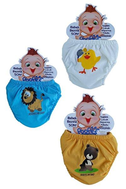 Poope's 3'lü Erkek Bebek Alıştırma Külodu Bebek Tuvalet Eğitimi