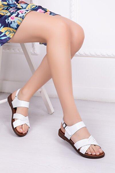 Deripabuc Hakiki Deri Kadın Deri Sandalet Dp-0080