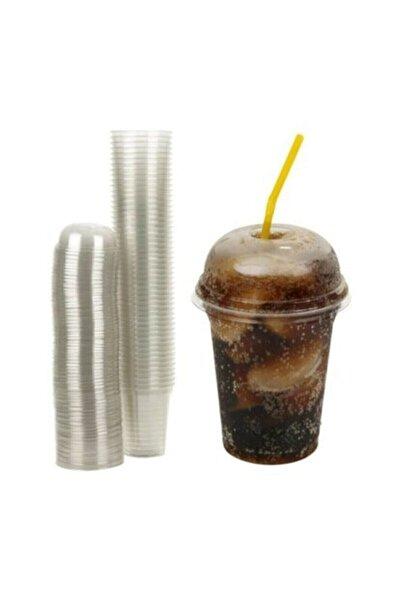 Şahin Ambalaj Plastik Şeffaf Bardak Kapaklı 300ml Cc Milkshake Bardağı 100 Adet