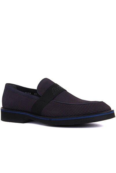 Fosco Klasik Eva Bağsız Lacivert Nubuk Ayakkabı