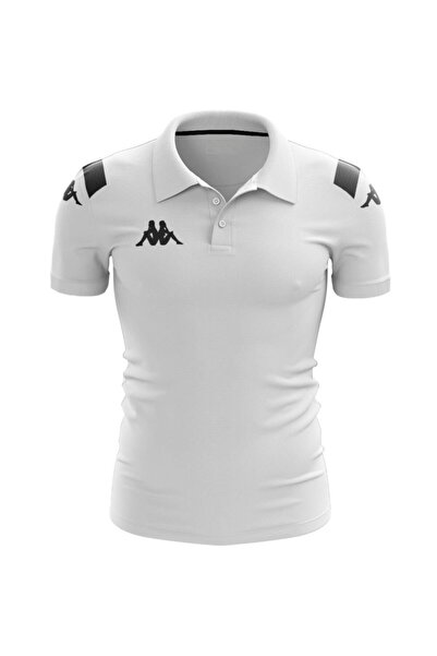 Kappa Erkek Beyaz Player Kamp Polo T-shirt Abıang4