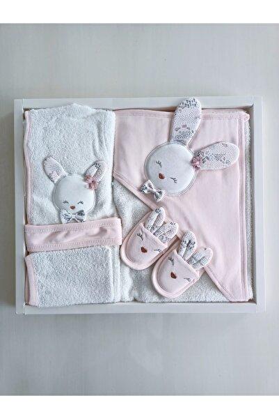 Gaye Bebe Kız Bebek Sevimli Tavşan Bornoz Seti