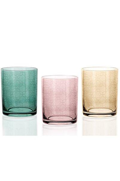 English Home Renkli Petek Cam 3'lü Meşrubat Bardağı 250 ml