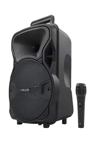 Mikado Md-45bt 3.7v1800mah Siyah Kablolu Mikrofon Toplantı Anfisi Bluetooth/usb/tf/fm/led Işıklı