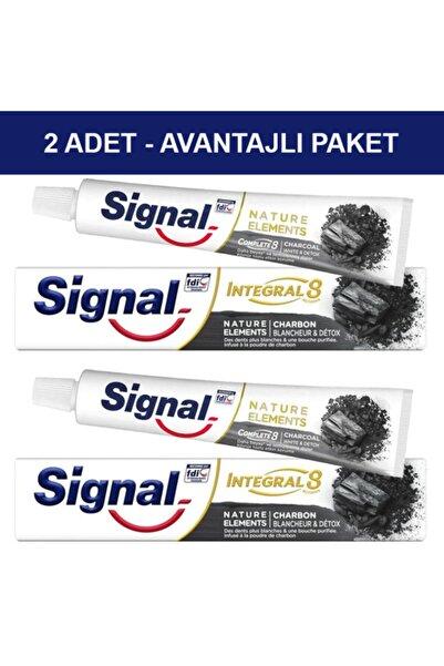 Signal Nature Elements Charcoal Diş Macunu 75ml Kömür Özlü - Avantajlı Paket 2 Adet