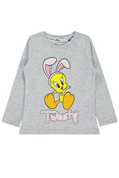 TWEETY Kız Çocuk Sweatshirt 2-5 Yaş Gri