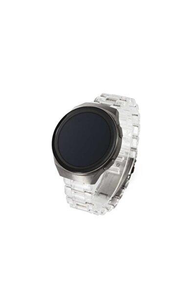 Samsung Galaxy Watch Active 2 40mm Uyumlu Şeffaf Sert Plastik Baklalı Tasarım