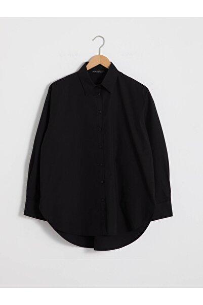 LC Waikiki Kadın Siyah Oversize Gömlek