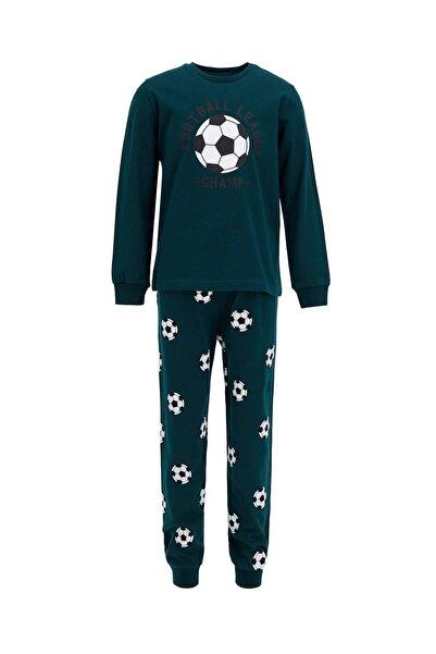 DeFacto Erkek Çocuk Baskılı Pijama Takımı S0459A620AU