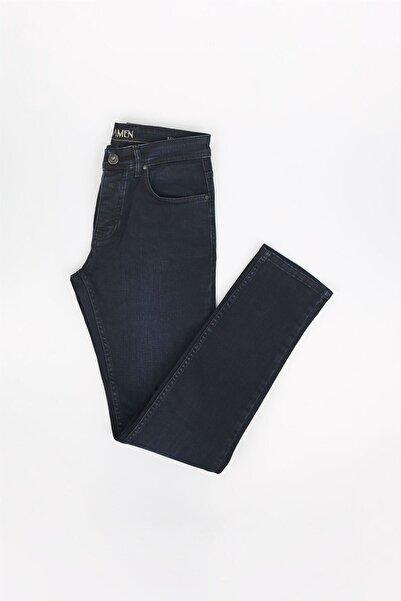 Jakamen Koyu Lacivert Renk Slim Fit Erkek Kot Pantolon